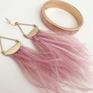 Michael Kors Bracelet & Feather Earrings